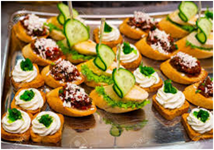 Canapes Part of Cold Buffet